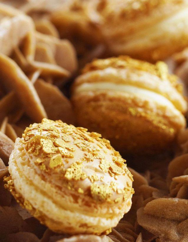 Macaron pailleté jasmin Lenôtre