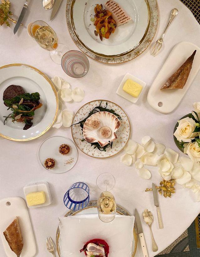Le menu d'Amaury BouhoursetCédric Grolet pour le Meurice