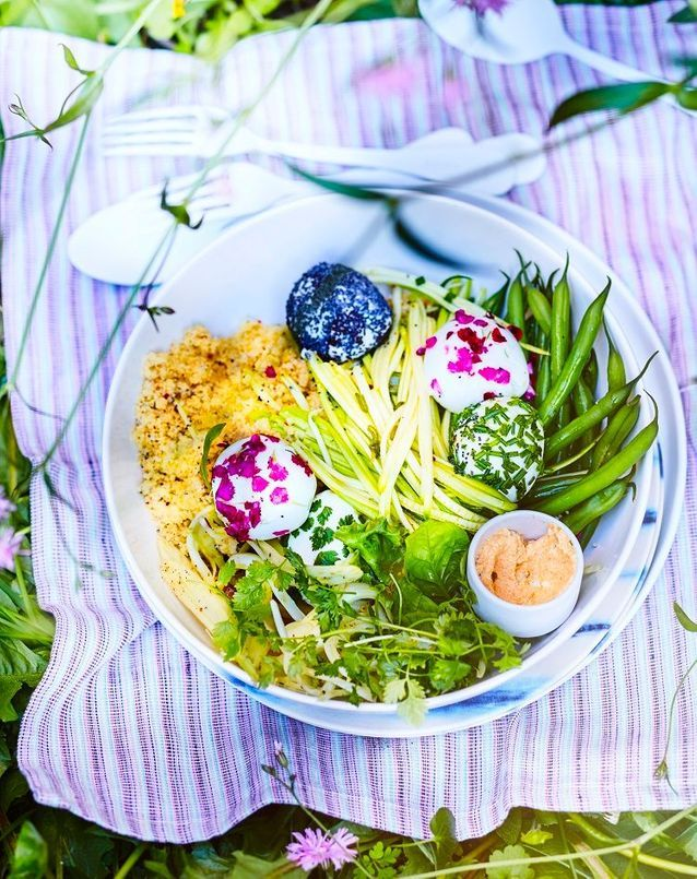 Salade veggie haricots verts et mozzarella