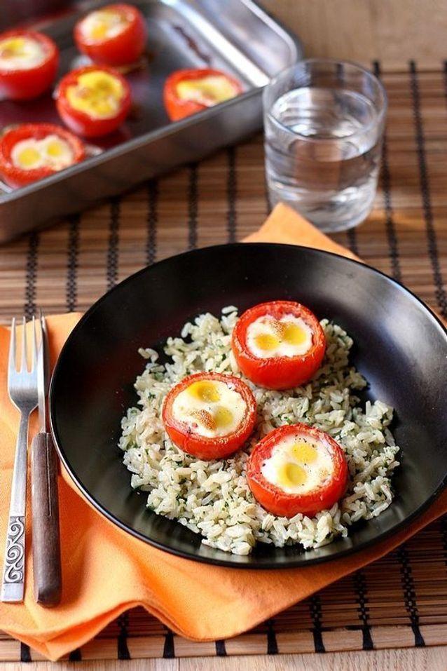 Œuf cocotte tomate