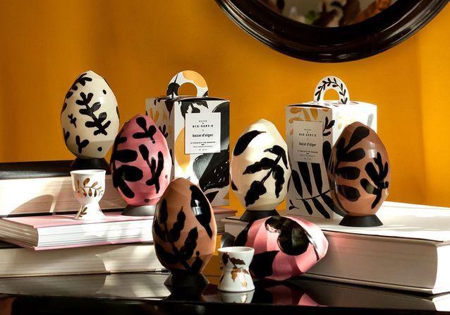 Oeuf de Pâques en chocolat Maison Dix Sept C