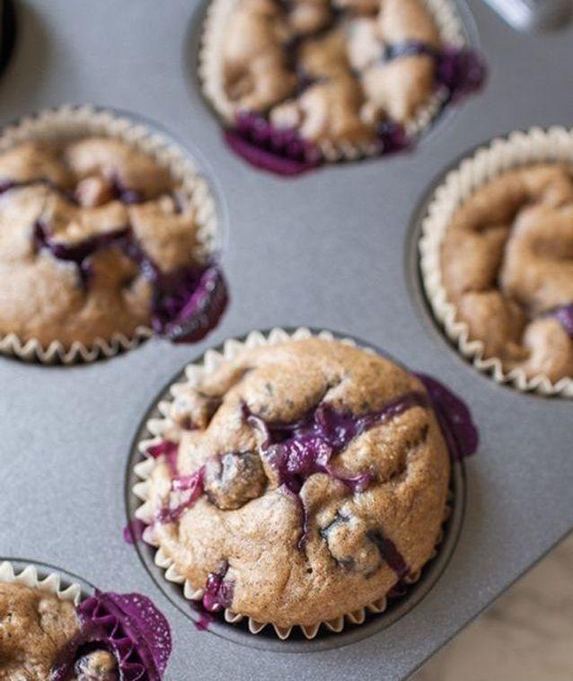 Muffins aux myrtilles sans sucre ajouté
