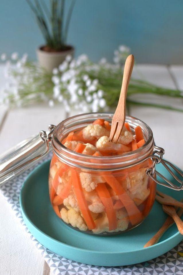 Pickles de carotte et chou-fleur