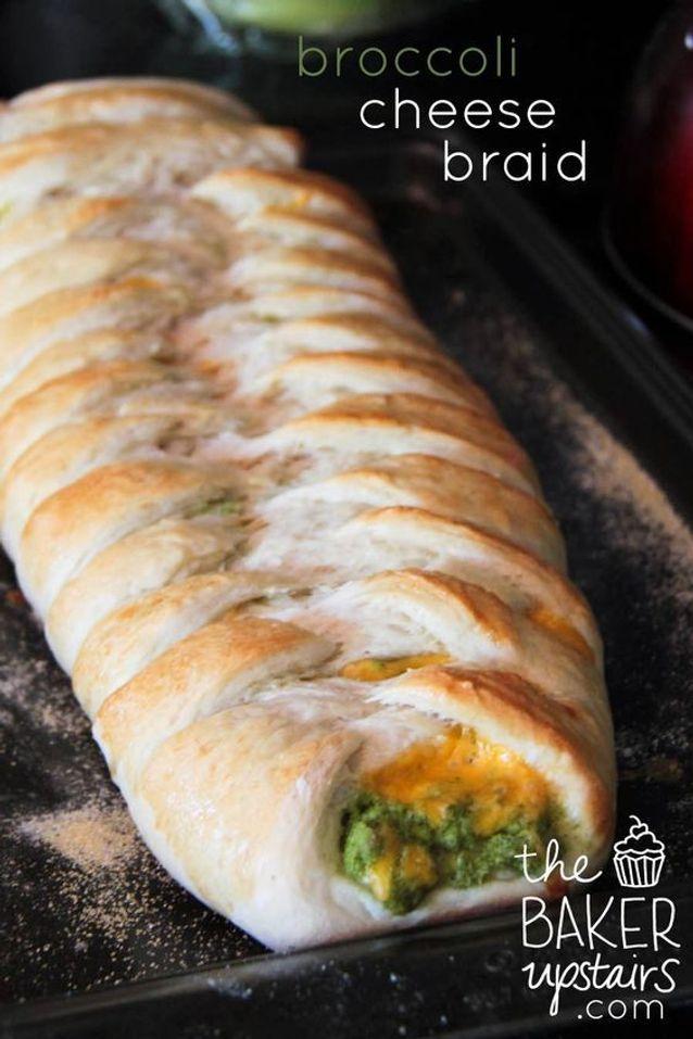 Pizza tressée brocoli parmesan