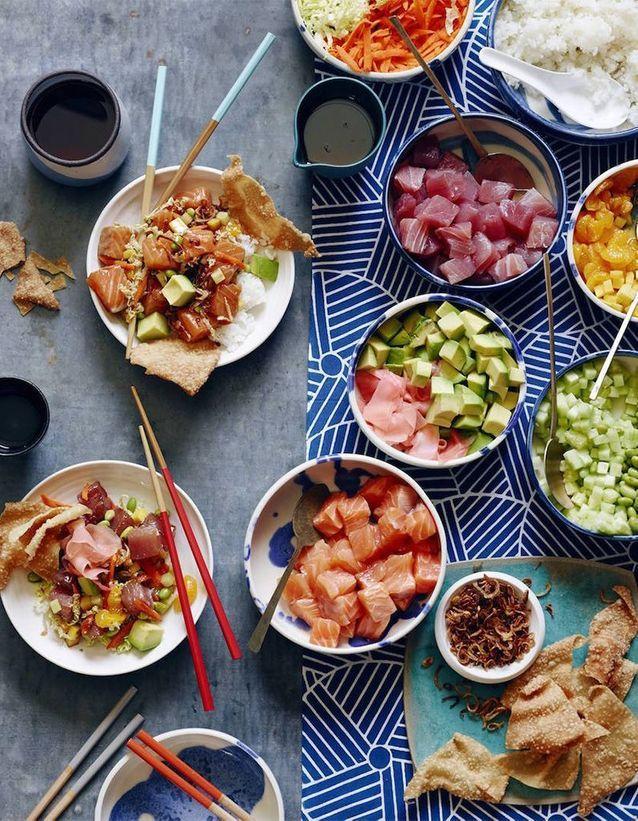 Poke bowl de saumon et thon