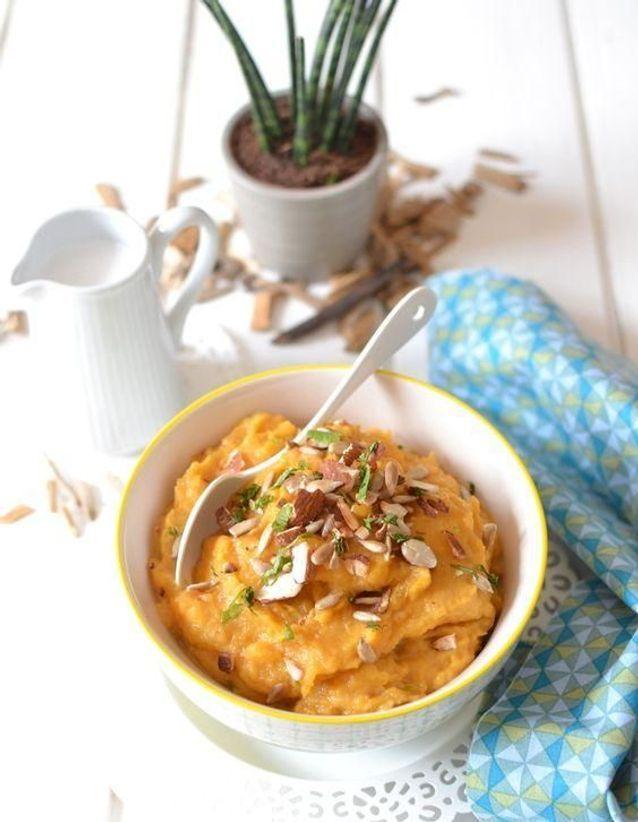 Purée de patate douce coco