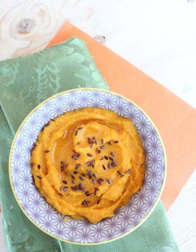 Purée de patate douce et carotte