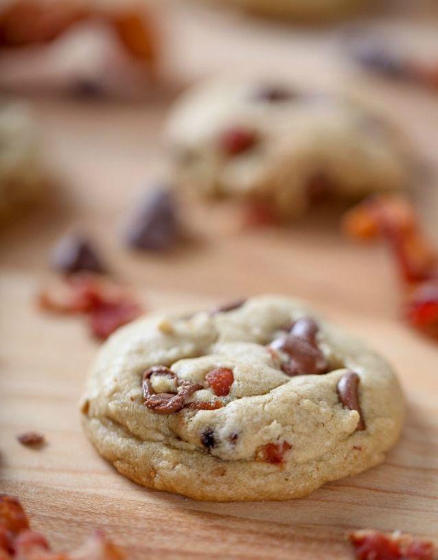 Cookies chocolat bacon