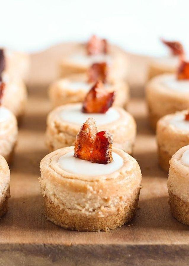Mini-cheesecakes bacon érable