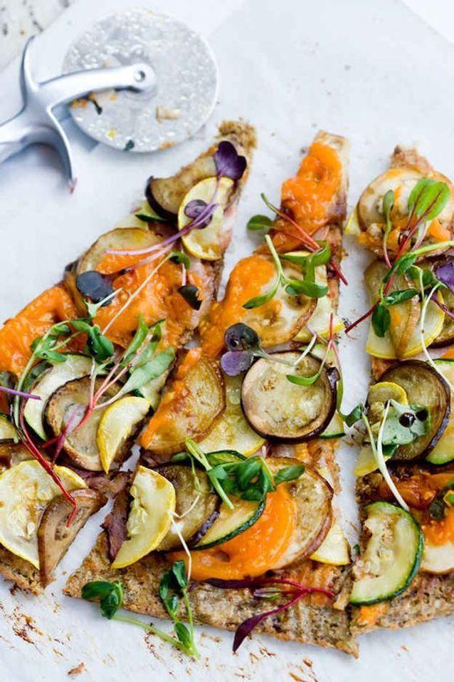 Pizza sans gluten pois chiches