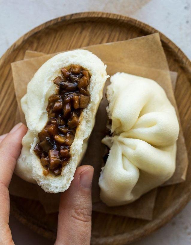 Bao porc et champignons
