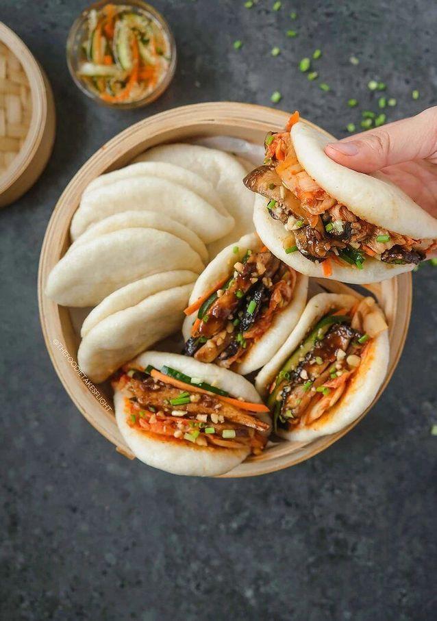 Gua Bao vegan aux champignons