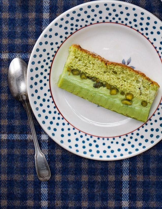 Gâteau magique à la pistache