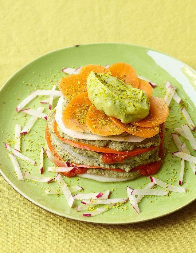 Lasagne crue de légumes