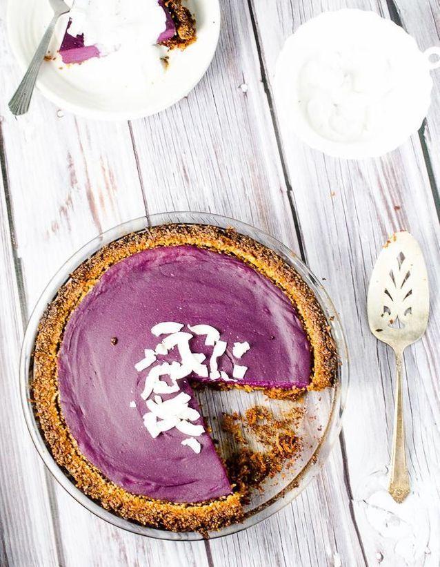Tarte à la patate douce violette