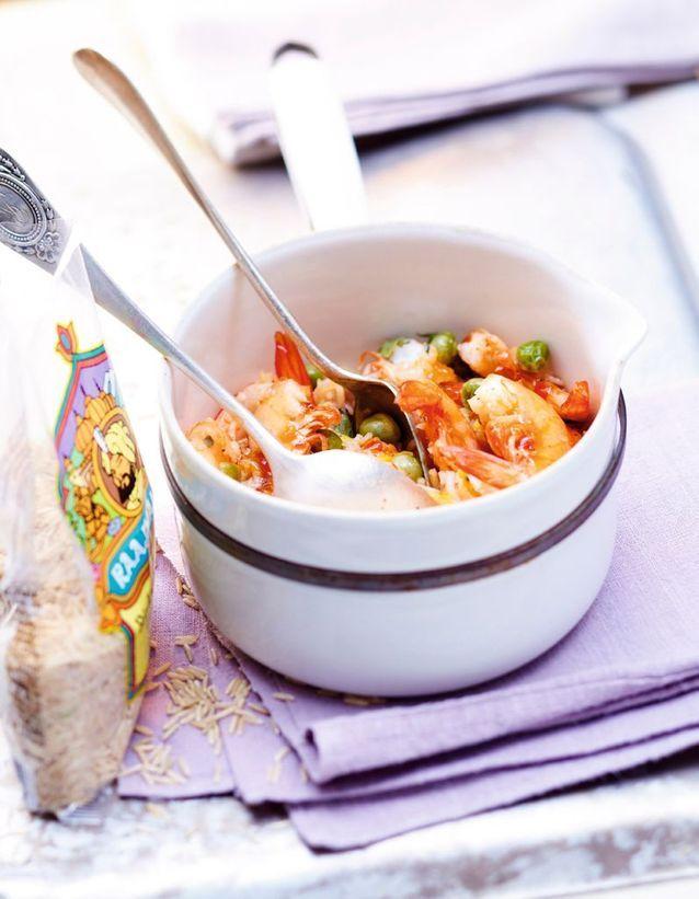 Riz cantonais aux crevettes