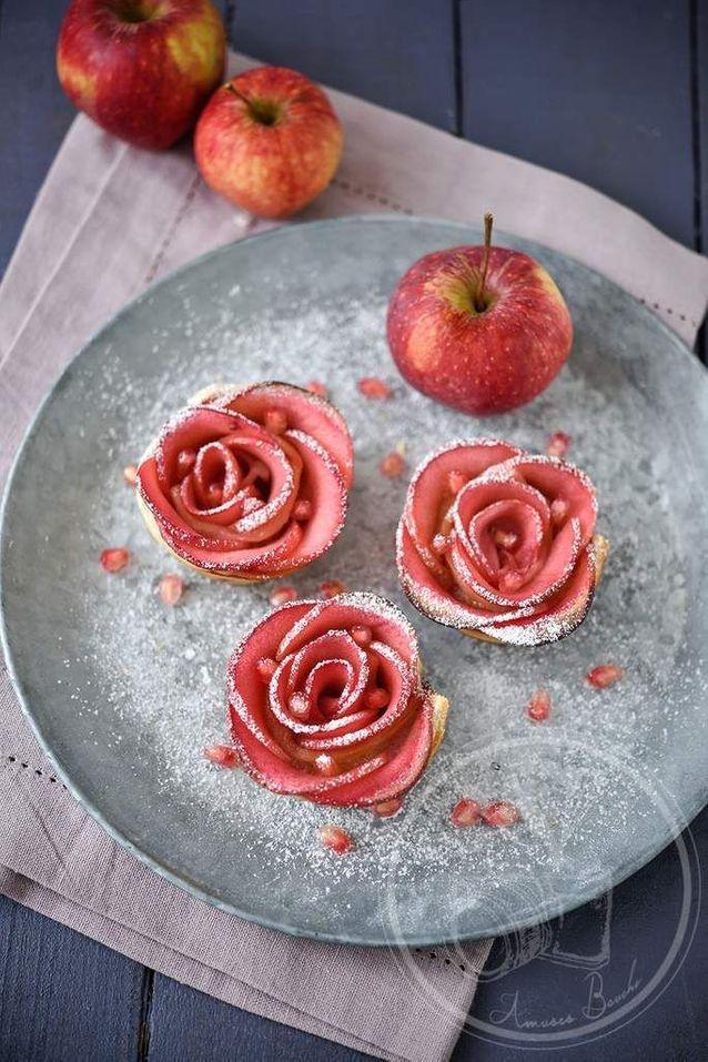 Rose de pomme au four