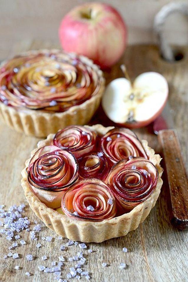 Tartelette bouquet de roses