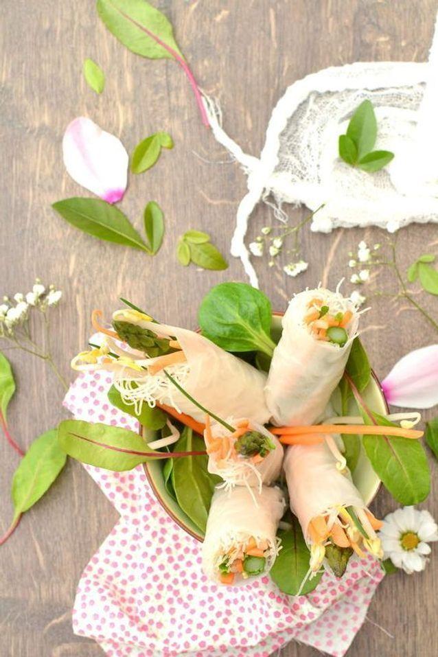 Rouleaux de printemps végétariens aux asperges vertes