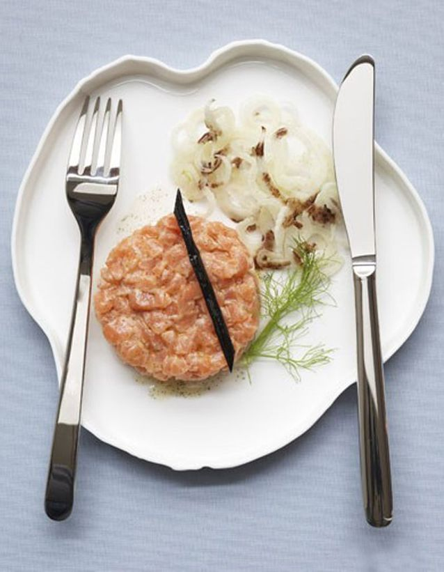 Tartare de saumon à la vanille