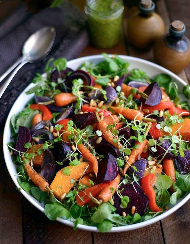 Salade d'hiver aux carottes