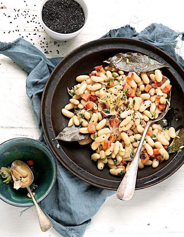 Salade d'hiver aux haricots blancs