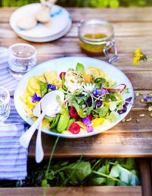 Salade du sud aux courgettes jaunes