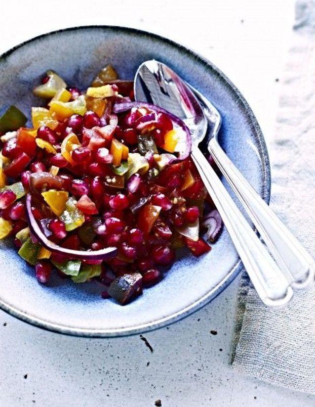 Tomates au vinaigre de ciboulette