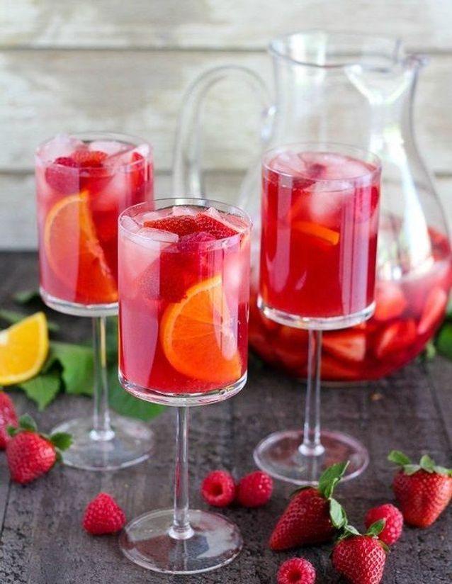 Sangria fraise orange