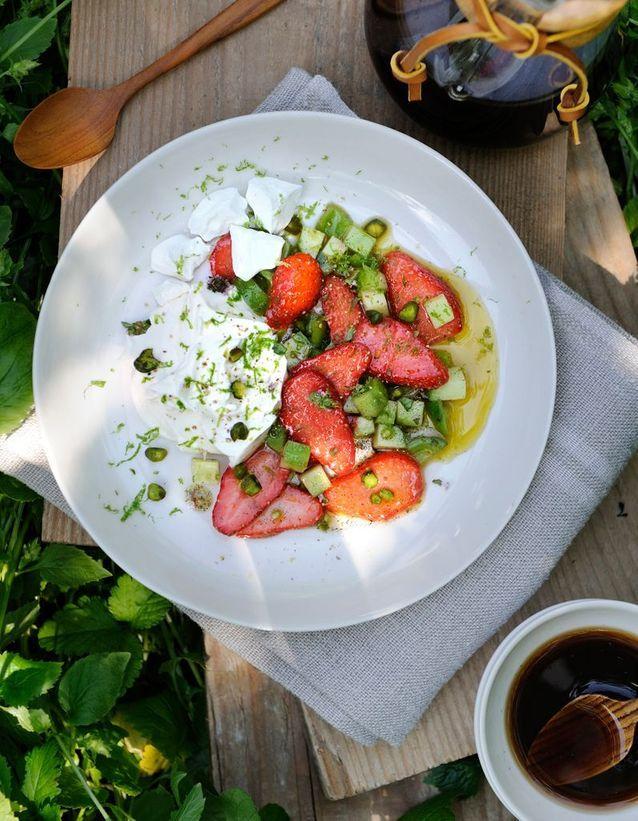 La salade de fraises par Santiago Torrijos