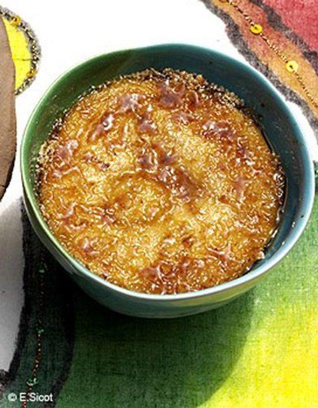 Crème Catalane, miel, citron et cannelle
