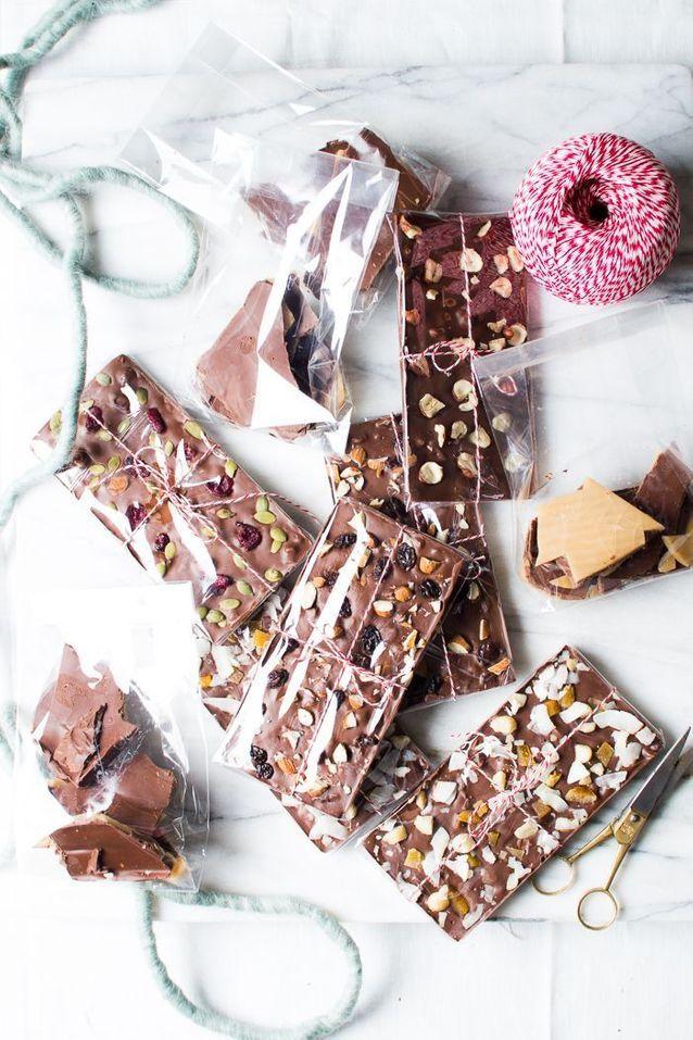 Tablette de chocolat maison pâtissier