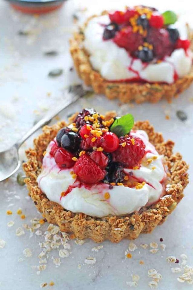 Tartelettes granola aux graines