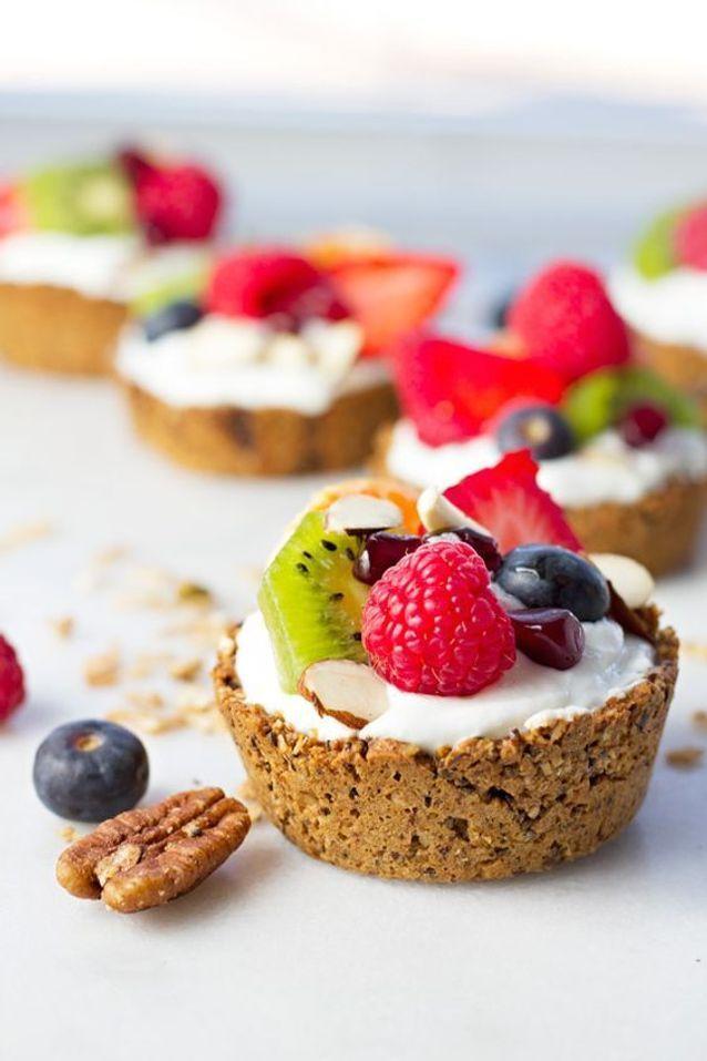 Tartelettes granola fruits et noix