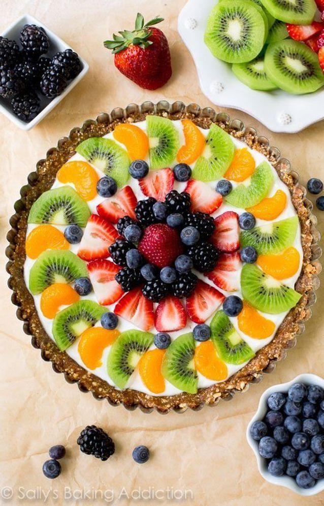 Tarte aux fruits et yaourt grec