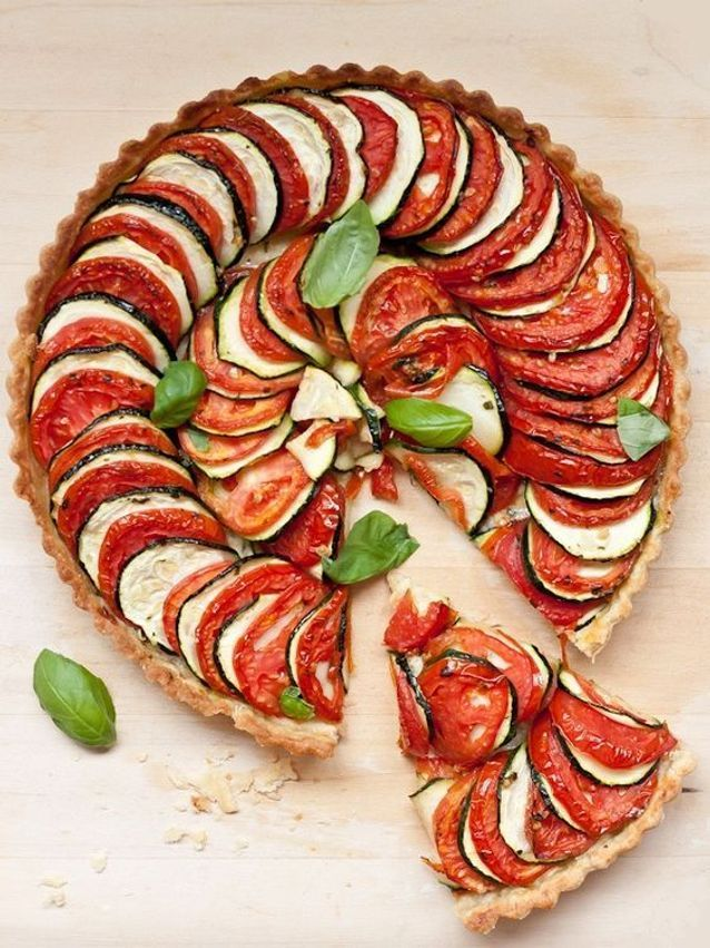 Tarte tomates aubergines