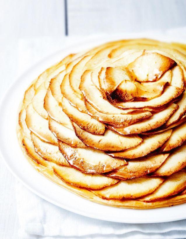 Tarte aux pommes sans sucre de Philippe Conticini