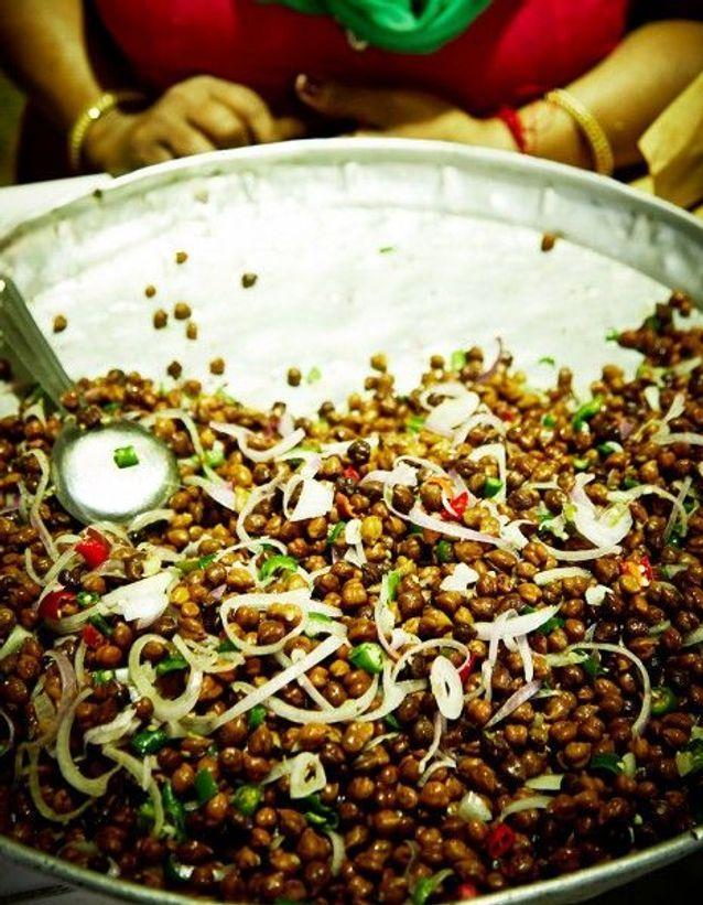 Salade de pois chiches et piment