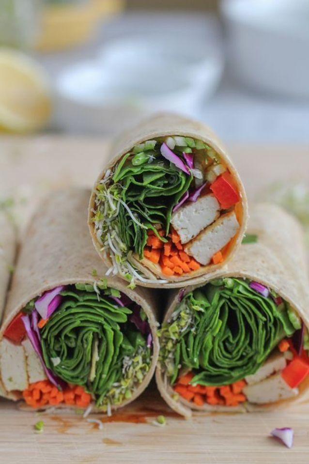 Wrap apéritif végétarien