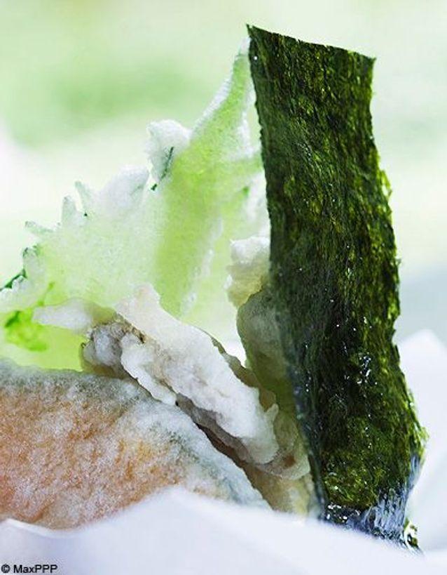La feuille d'algue nori