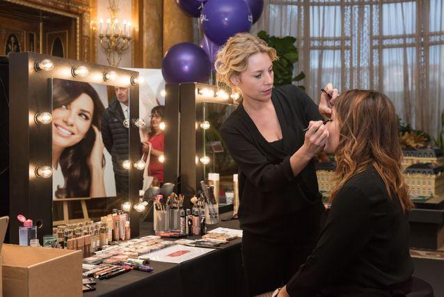 Sur le corner « Se sublimer », avec L'Oréal Paris