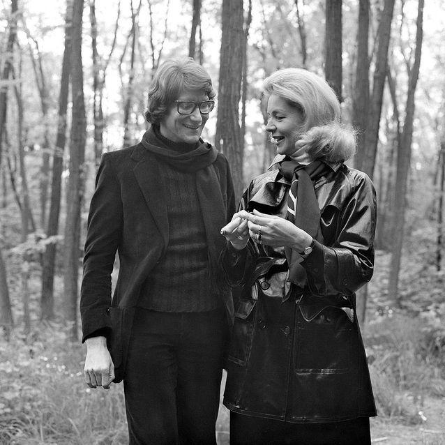 Avec Yves Saint Laurent