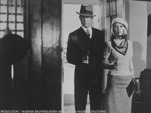 Warren Beatty et Faye Dunaway dans « Bonnie & Clyde »