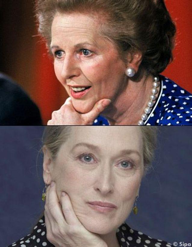 Meryl Streep en Margaret Thatcher.