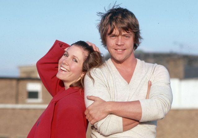 10 clichés rares de Carrie Fisher dans les coulisses de « Star Wars »
