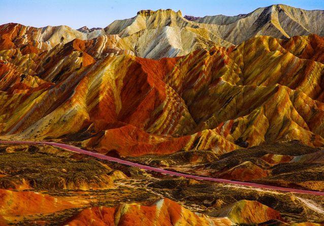 Les montagnes de Zhangye Danxia, en Chine