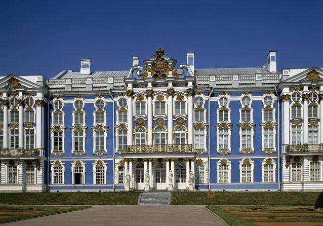Le Château de Tsarskoye Selo, en Russie
