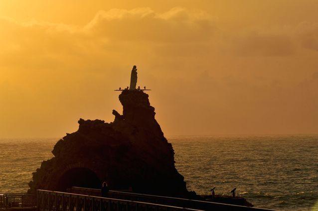 A Biarritz, depuis le rocher de la Vierge