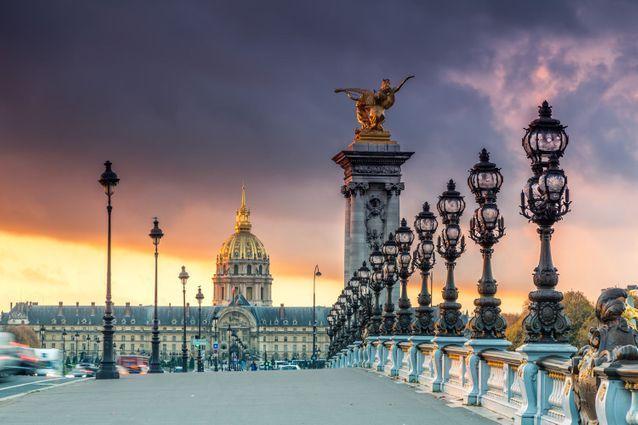 A Paris, depuis le pont Alexandre III