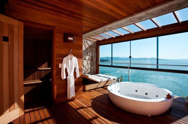 Les plus beaux hôtels avec salle de bain avec vue - Elle